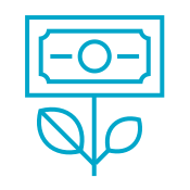 Growing Cash Icon